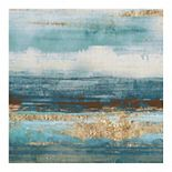 Fine Art Canvas 'Aqua and Brown Stridations' Canvas Wall Art