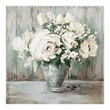 Fine Art Canvas 'White & Sage Floral II' Canvas Wall Art