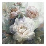 Fine Art Canvas 'White Roses III Soft' Canvas Wall Art
