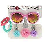 Girls Elli by Capelli Sunglasses & Unicorn Flowers Case Set With Bonus Ponies