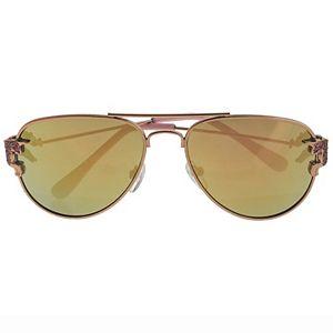 Girls Elli by Capelli Glitter Unicorn Metal Aviator Sunglasses