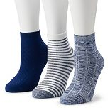 Women's Cuddl Duds® Everyday 3-pack Ankle Socks