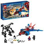 LEGO Marvel Spider-Man Spider-Jet vs. Venom Mech 76150 Building Kit