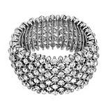 1928 Silver-Tone Crystal Stretch Bracelet