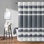 Lush Decor Cape Cod Stripe Yarn Dyed Cotton Shower Curtain