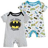 Baby Boy DC Comics 2 Pack Batman Romper Set