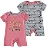 Baby Boy Harry Potter 2 Pack Romper Set