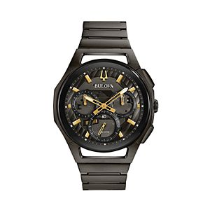 Bulova Men's CURV Gunmetal Stainless Steel Chronograph Watch - 98A206