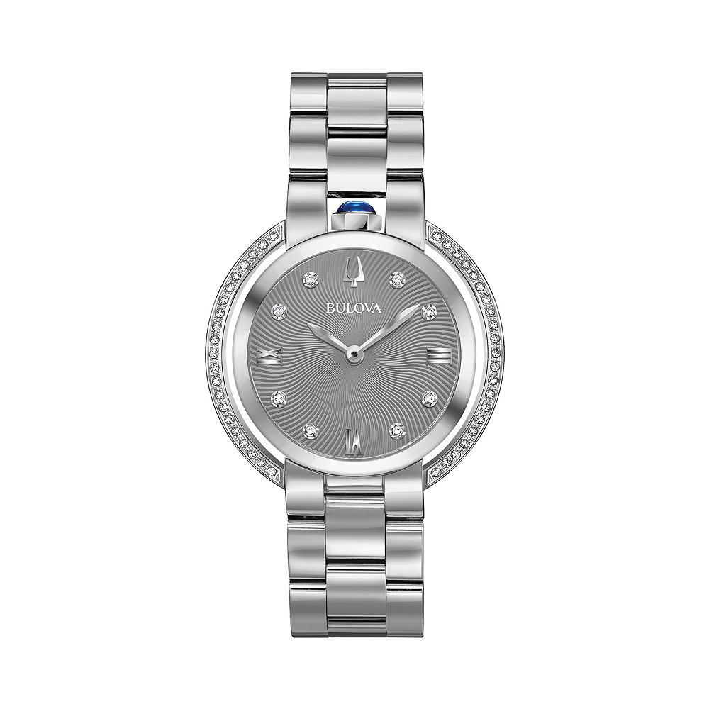 Bulova Women's Rubaiyat Diamond Accent Stainless Steel Watch - 96R219
