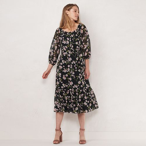 Women's LC Lauren Conrad Smocked Midi Dress