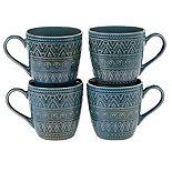 Certified International Aztec Teal 4-pc. Mug Set
