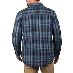 Men's Walls Longhorn Midweight Brushed Flannel Stretch Work Shirt