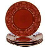 Certified International Aztec Rust 4-pc. Dinner Plate Set