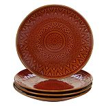 Certified International Aztec Rust 4-pc. Salad Plate Set