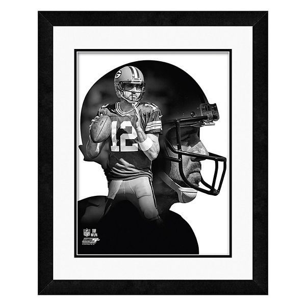 Green Bay Packers Aaron Rodgers Profile Framed Photo
