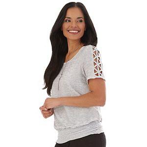 Women's Apt. 9® Lattice-Sleeve Top