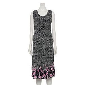 Women's Croft & Barrow® Smocked Challis Dress