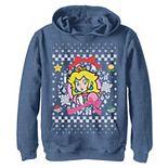 Boys 8-20 Nintendo Super Mario Classic Ugly Christmas Peach Graphic Hoodie