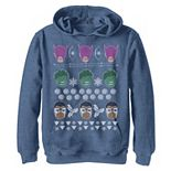 Boys 8-20 Marvel Avengers Classic Retro Ugly Christmas Graphic Hoodie