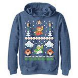 Boys 8-20 Nintendo Super Mario Mario Goomba Ugly Christmas Sweater Graphic Hoodie