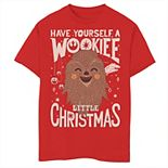 Boys 8-20 Star Wars Wookiee Little Christmas Sketched Graphic Tee