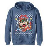 Boys 8-20 Nintendo Super Mario Bowser Classic Ugly Christmas Graphic Hoodie
