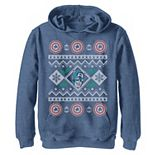 Boys 8-20 Marvel Captain America Ugly Sweater Design Graphic Hoodie
