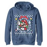 Boys 8-20 Nintendo Super Mario Classic Ugly Christmas Mario Graphic Hoodie