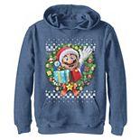 Boys 8-20 Nintendo Super Mario 3D Christmas Wreath Present Hoodie