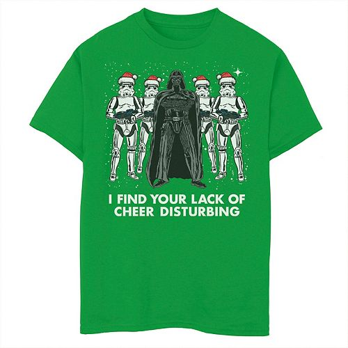 Boys 8-20 Star Wars Vader Trooper Lack Cheer Christmas Tee