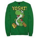 Men's Nintendo Super Mario Yoshi Intro Jump Sweatshirt