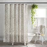 One Home Brand Farmhouse Block Floral Print Shower Curtain