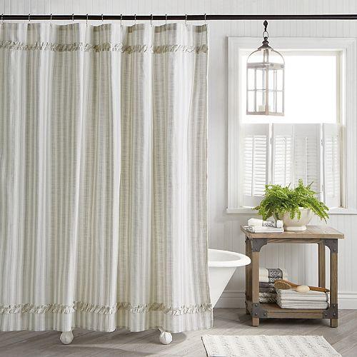 Farmhouse Country Stripe Shower Curtain
