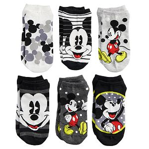 Disney's Mickey Mouse Juniors' 6-pack No-Show Socks