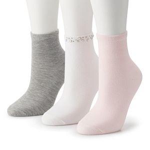 Women's Madden Girl 3-Pack Anklet Socks