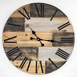 American Art Décor Concepts Firstime & Co Oversized Wood Vintage Wall Clock