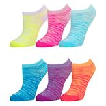 Girls 4-16 SO® 6-Pack Microfiber No-Show Socks