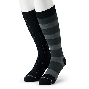 Men's Dr. Motion 2-pack Print Compression Knee-High Socks