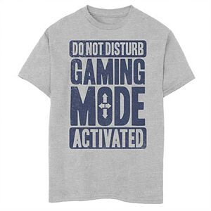 Boys 8-20 Do Not Disturb Gaming Mode Activated Graphic Tee