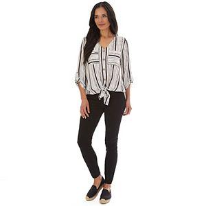 Women's Apt. 9® Roll-Tab Button-Down Shirt