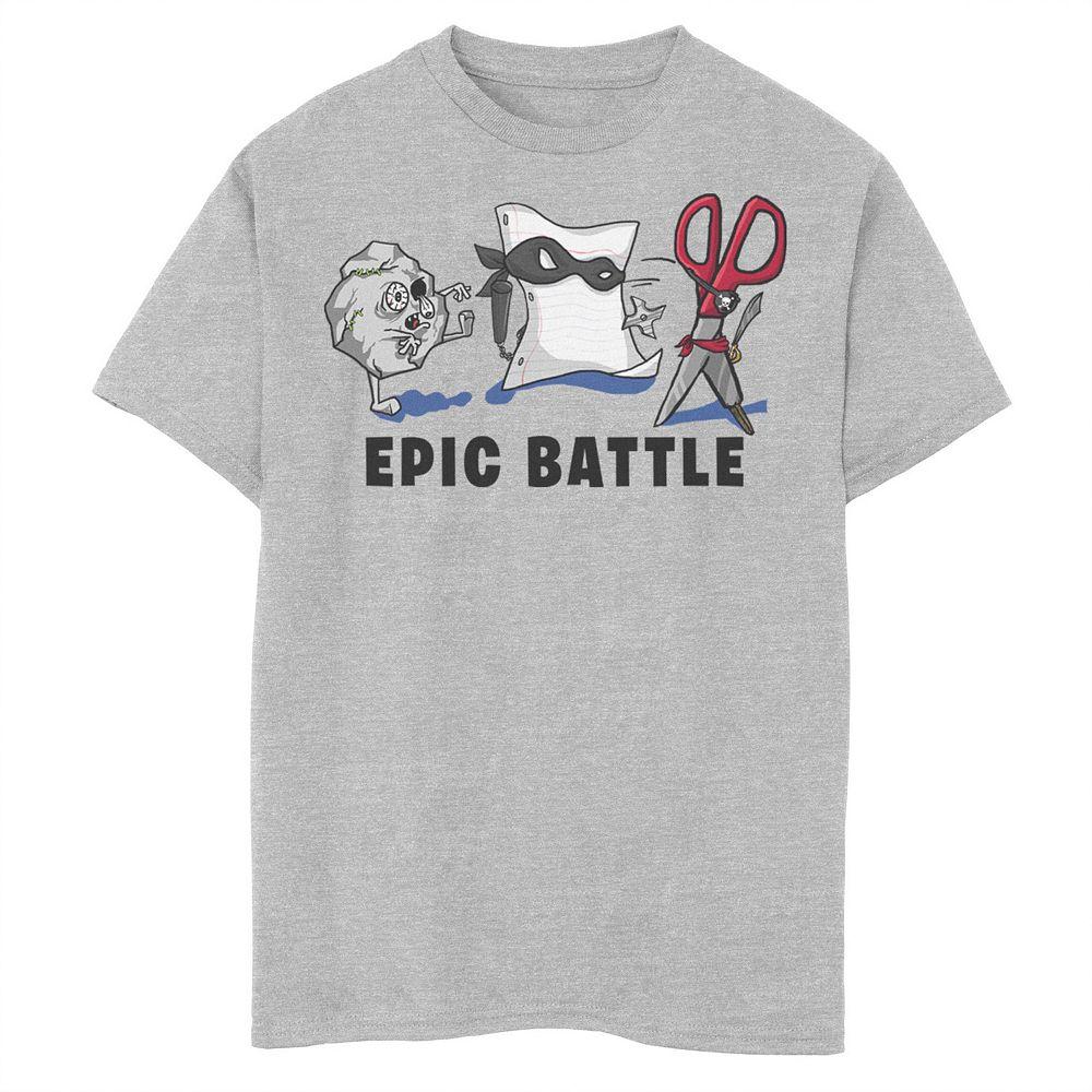 Boys 8-20 Epic Battle Rock Paper Scissors Graphic Tee