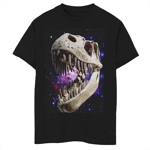 Boys 8 20 T Rex Skull And Bones In Space Graphic Tee