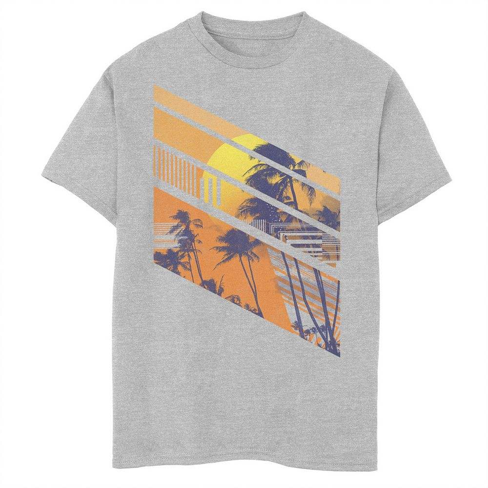 Boys 8-20 Abstract Beach Line Art Graphic Tee