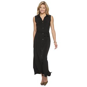 Women's Nina Leonard Maxi Shirtdress