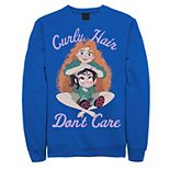 Men's Disney Wreck It Ralph 2 Comfy Princess Curly Hair Don't Care Sweatshirt