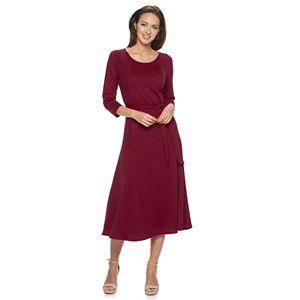 Women's Nina Leonard Jacquard Midi Dress