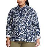 Plus Size Chaps Multi-Tone Cowlneck Sweatshirt