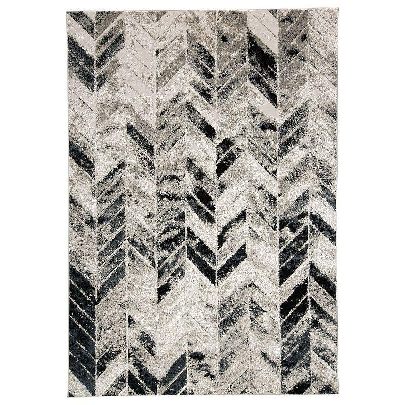 Weave & Wander Orin Herringbone Rug, Beig/Green, 3X8 Ft