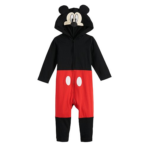 Disney's Mickey Mouse Baby Boy Hooded Jumpsuit Coverall