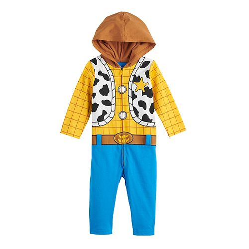 Disney / Pixar Toy Story Baby Boy Woody Hooded Jumpsuit Coverall